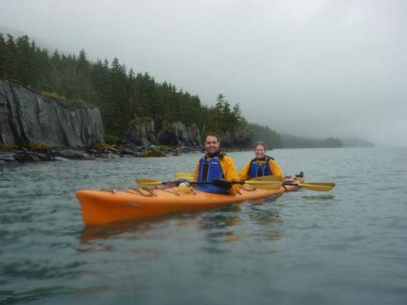 My daughter and son in law, enjoying their time working in Alaska without fear of sea monsters.
