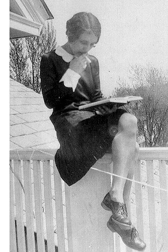 Grandmother the flapper, while studying in nursing school.