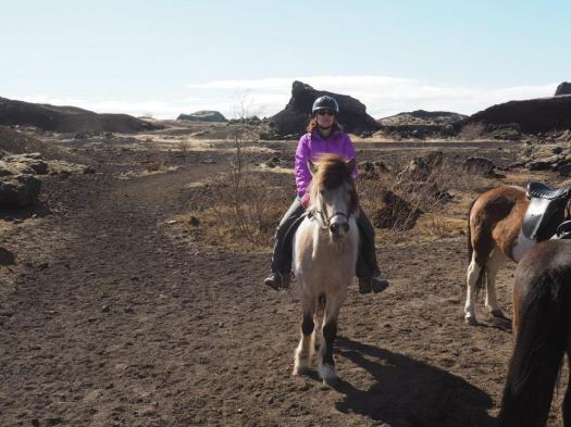 Me and Ljosbra. Note amazing scenery to ride through
