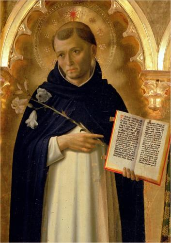 Saint Dominic, we have him to thank for the Inquisition to come.