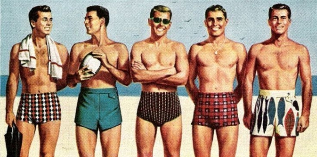 Image result for man at beach+vintage