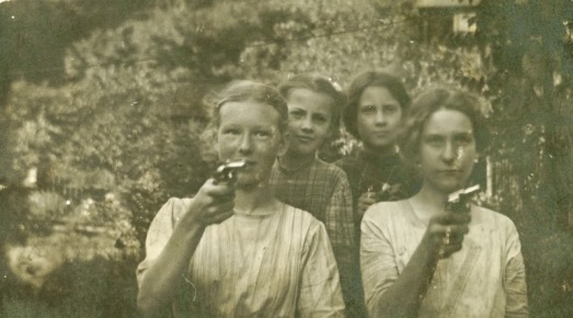 Women Posing with Guns (8)