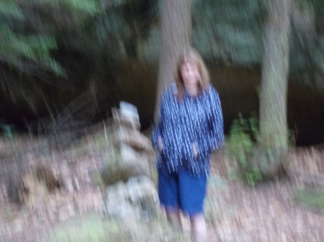 obviously a Bigfoot hot spot as even I'm fuzzy and out of focus. While standing next to the Bigfoot art... coincidence or PROOF?