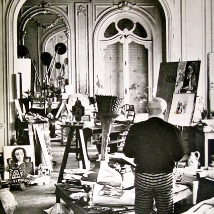 Pick a painting, any painting. I truly enjoy the works of this modern artist/businessman (the two go together). His homes and studios were always a clutter of canvases and creation.
