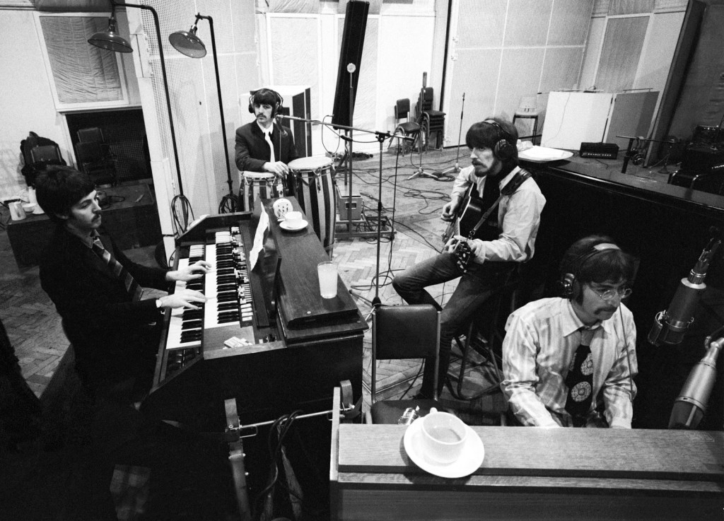 The Beatles In Studio Recording Sgt Pepper At Abbey Road 67 1024x737