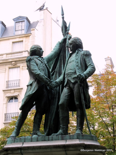 Bartholdis-Lafayette-and-Washington-paris-place-etats-unis